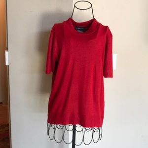Sag harbor red short sleeve sweater
